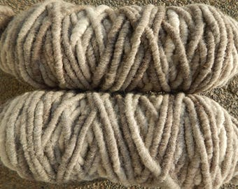 Alpaca Rug Yarn Bulky Rose Grey Shades for Weaving, Knitting or Crochet Projects Handmade