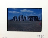 Vintage 35mm Slide Set - England - 1960s Travel - Photo Slides - Shakespeare - Oxford - Stonehenge - Warwick Castle - Salisbury
