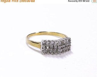 Art Deco Ring DIAMOND Engagement Ring, Wedding Ring, Antique Bridal Ring 10k, 0.40 Ctw, On SALE Holiday Gift For Her - Jewelry by edmdesigns