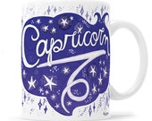 Capricorn Gift Horoscope Mug Zodiac Gift Astrology Gift Metaphysical Gift Zodiac Gifts Star Sign Capricorn Sign Astrology Mug Moon Mug