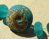 Handmade lampwork glass bead and  glass bead spacer set