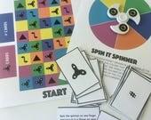 Fidget Spinner Board Game (PDF Printable)