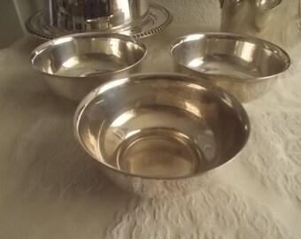 Silver plate ice cream sherbets dishes Morgan silver on copper
