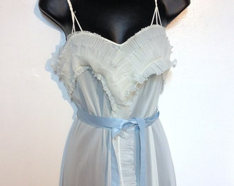 Vintage 50s Night Gown Nightgown Size 4 XS