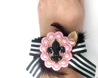 Chic Paris Girl in the City Cuff Bracelet