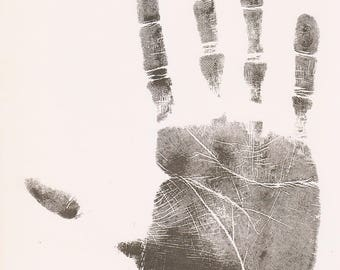 Set of 3 Vintage Palmistry Illustrated Book Pages Palm Lines 1960s Prints Retro