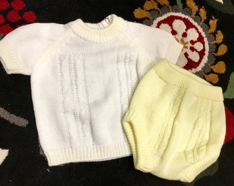 1970s Knit Outfit 9/12 Months