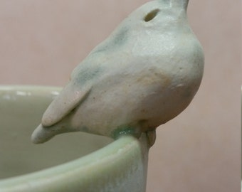 Ceramic Bird Bud Vase