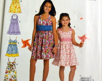 Children's Sewing Pattern McCall's 9229 Girl's Dresses   Size 7-14 UNCUT  COMPLETE