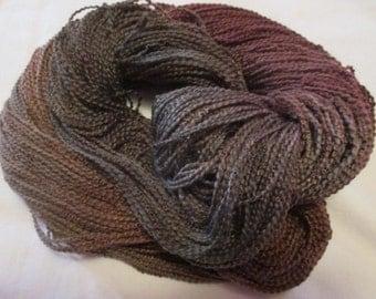Hand painted Cotton Boucle Yarn - 315 yds.  SAND BRIDGE