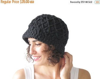 20% WINTER SALE NEW! Dark Gray Pretty Woman Hat