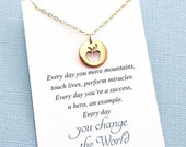 SALE - Teacher Gifts   Apple Charm Necklace   Teacher Mentor Appreciation Gift   Apple Pendant Necklace   Silver or Gold   T03