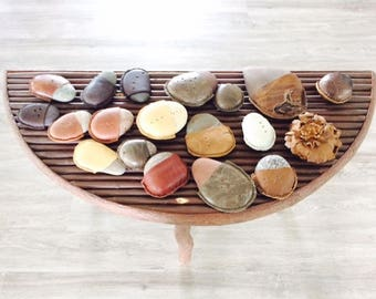 River Stone and Assorted Leather Paper Weights by Stacy Leigh