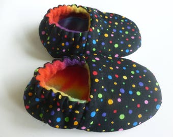 Colorful Polka Dots Soft Shoes - 0-6 Months - READY TO SHIP!