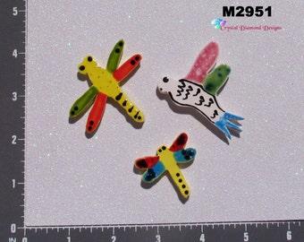 Dragonflies Kiln Fired Hand Paint Handmade Mosaic Tiles M2951