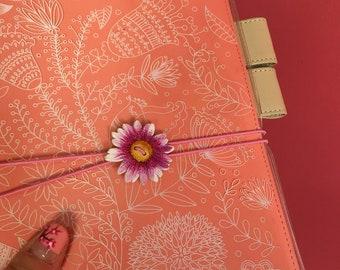 WOODEN elastic BAND elastic closure for Hobonichi, fauxbonichi cover