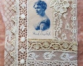 Custom Order ... Vintage & Antique Lace Collages with Antique Ciggies ... For framing, crazy quilting, heirloom sewing, fabric art, journals