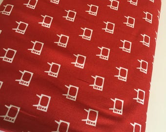 SALE, Mid Century Modern, Theatre Fabric, TV fabric, Theatre room Decor, Let Me Entertain You, Mod TV in Red- Choose the cut