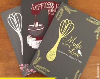 gift for her gift for women gift for men gift for boss personalized recipe journal recipe book