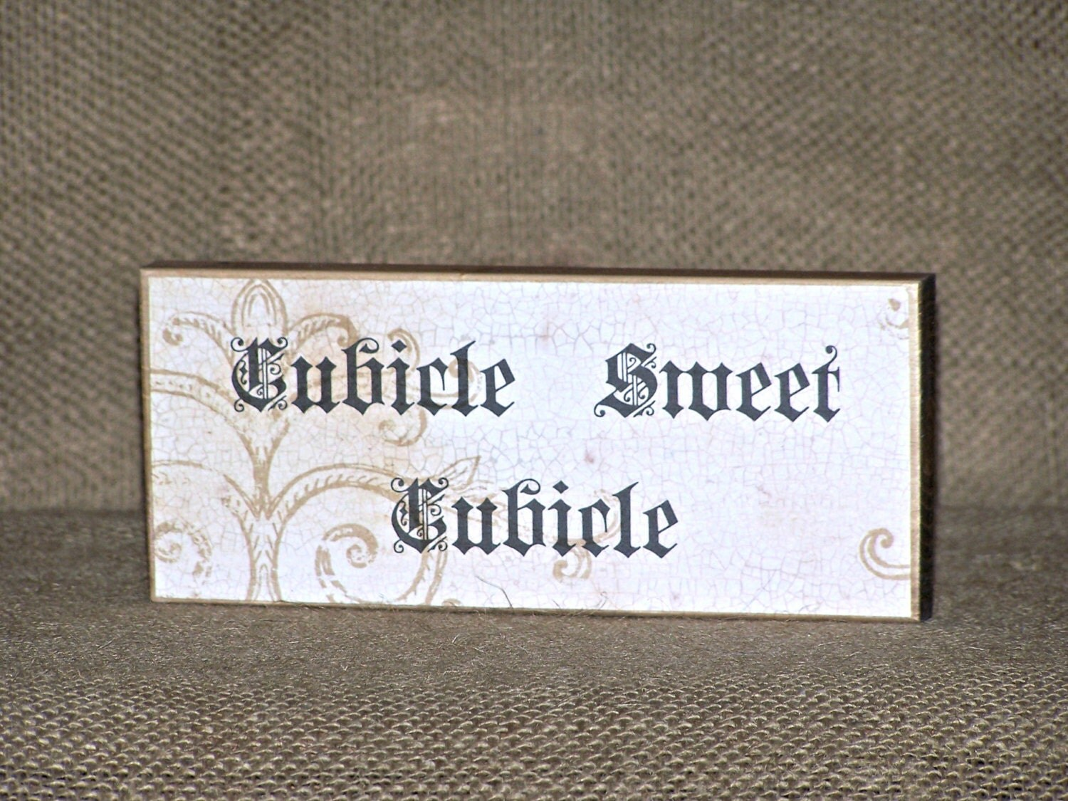 Office Home Desk Sign Cubicle Sweet Cubicle Quote Coworker