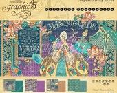 SALE PREORDER Graphic 45 Midnight Masquerade 8x8 Paper Pad