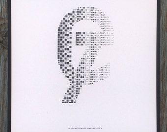 Sonnenzimmer Manuscript letterpress ampersand print