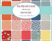 "SQ68 Moda Hop, Skip and A Jump Precut 5"" Charm Pack Fabric Quilting Cotton Squares American Jane 21700PP"