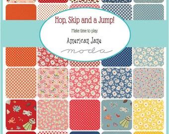 "SQ68 Moda Hop, Skip and A Jump Precut 5"" Charm Pack Fabric Quilting Cotton Squares American Jane 21700PP"