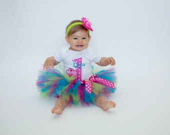 First Birthday Tutu Outfit - 1st Birthday Girl Outfit - 1st Birthday Cupcake Tutu - Cake Smash Outfit