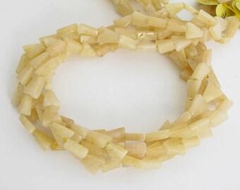 9mm Aragonite Beads, Light Peach Aragonite Triangle Beads, Full Strand,  Arg200