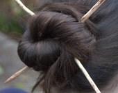 Hand whittled Beech Hair Sticks sacred spiral