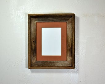 Picture frame 5x7 mat in 8x10 eco friendly wood frame, a great addition to your rustic decor