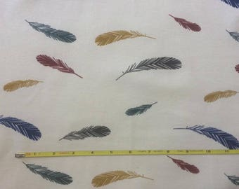 "NEW Birch Feathers Organic Cotton Interlock 42-44"" wide per yard"