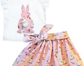 Rabbit skirt and t-shirt x 2