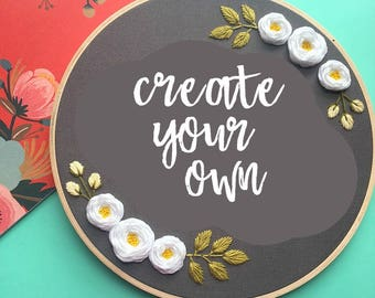 Create Your Own Customizable Embroidery Hoop