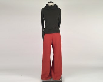 Alena Designs - Wilma - Wide Leg Pants - Hemp Poly Blend - Rust