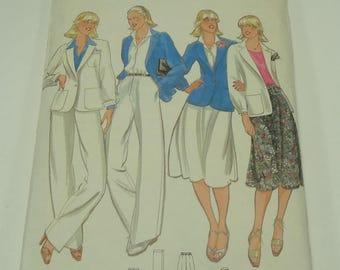 Butterick Misses' Jacket, Skirt, Pants & Sash Pattern 5881 Size 12