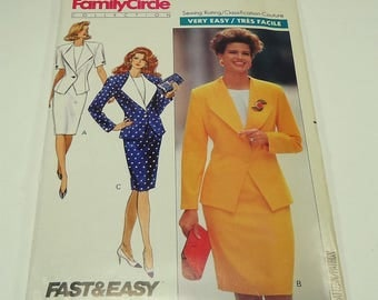 Butterick Very Easy Misses' Jacket, Skirt And Top Pattern 3491 Size 6 - 8 - 10 Family Circle