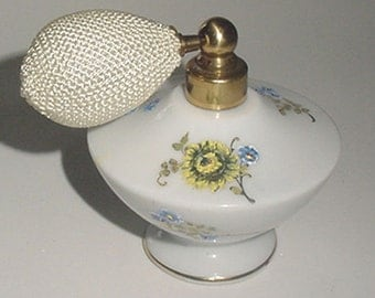 Perfume - Antique - Hand Painted Perfume with Bulb Atomizer - Japan China - Signed -Very Lovely