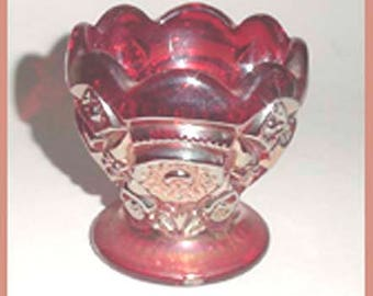Signed Imperial  Toothpick Holder In Carnival Glass -Very Nice