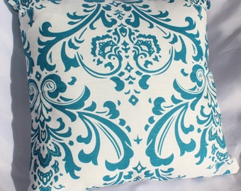 Turquoise Traditional Pillow Cover, Premier Prints, Sofa Cushion
