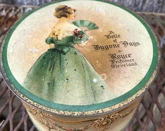 Antique/Vintage Royce Perfume Cleveland A Belle of Bygone Days Tin