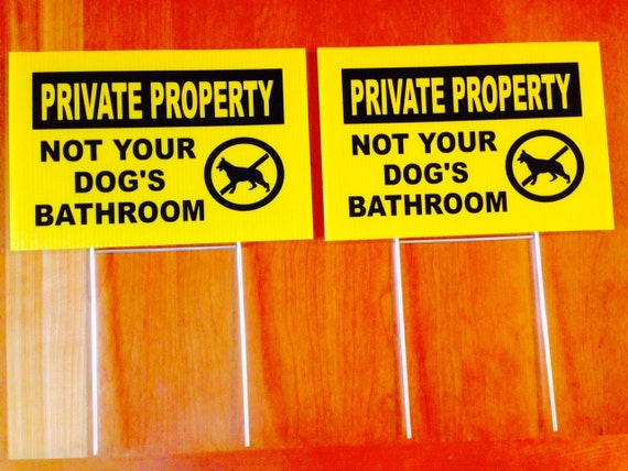 Bathroom Signs No Pooping 2 signs 2 stands no dog poop pooping signs private property