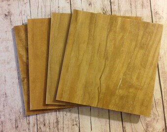Light Brown Coaster Tile Blanks- Set of 16- 4 Inch by 4 Inch- Add paper, fabric or paint to the front- The back is a finished surface