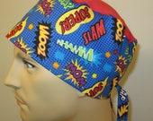 Mens Women Scrub Cap Zoom  OR Cap Nurses Cap Surgical Cap Teens Chemo Hat Free Ship USA Adjustable Chemo Hat