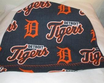 Kids  Detroit Tigers Children  Lightweight  Hat -Chemo, Cancer, Alopecia,Sleep Cap, Summer Chemo Hat