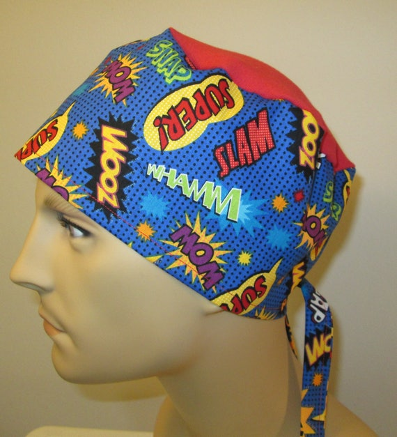 Mens Women Scrub Cap Zoom  OR Cap Nurses Cap Surgical Cap Teens Chemo Hat Free Ship USA Adjustable Chemo Hat