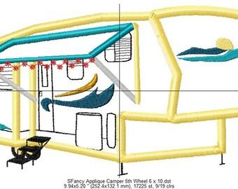 SFancy Applique Camper Fifth Wheel 6 x 10