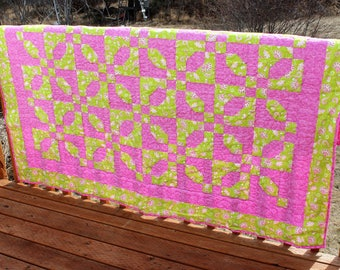 Quilt- Twin Size Pink and Green