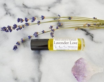 SALE - Lavender Love Gemstone Aromatherapy for Healing, Universal Healing Scent - Organic Aromatherapy Potion, Blemishes, Sleep-aid, Chakra